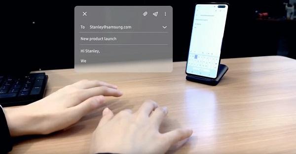 Samsung разработал виртуальную клавиатуру для смартфонов