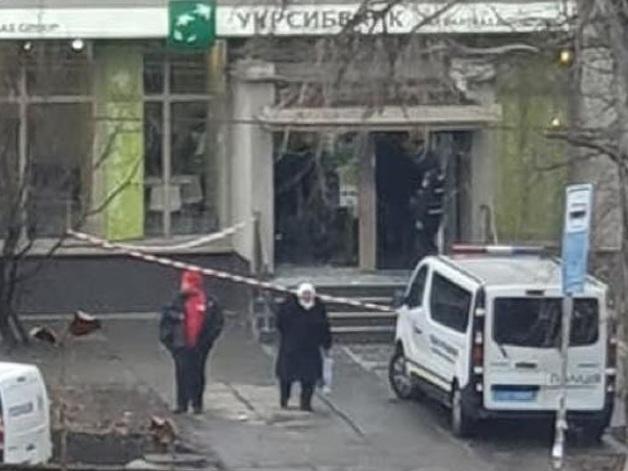 """В Киеве взорвали отделение """"Укрсиббанка"""""""