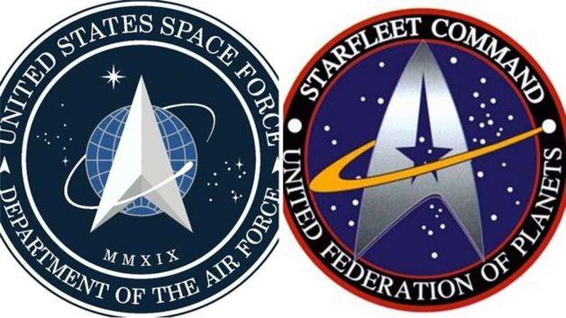 Эмблема Космических сил США оказалась похожей на логотип Star Trek