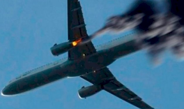 В США разбился самолёт: первые кадры