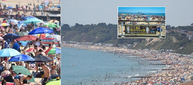 На британские пляжи пришли около полумиллиона людей: нарушен карантин, заблокированы дороги