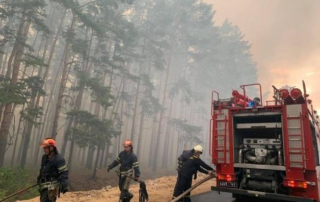 Названа возможная причина пожаров в Луганской области