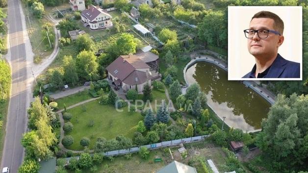 Дом, где живет глава СБУ. У Баканова в резиденции под Киевом персональное озеро и красивый сад