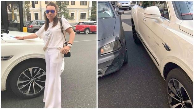 Ирэна Кильчицкая вчера попала в ДТП на Bentley, а сегодня пересела на Porsche Cayenne