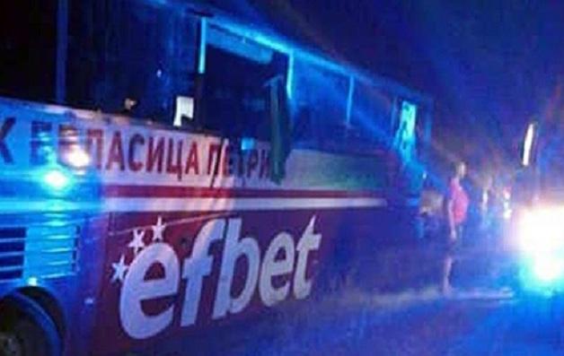 Автобус с футболистами болгарского клуба попал в ДТП: у водителя произошел инфаркт