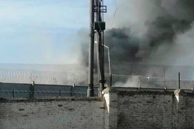 Пожар в российской исправительной колонии попал на видео