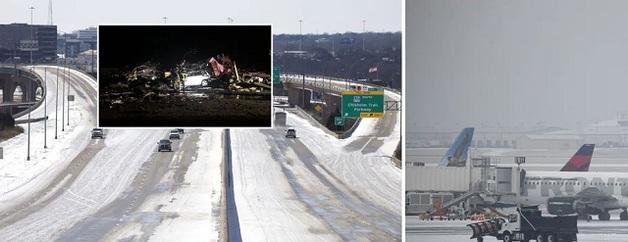 США накрыли аномальные снежные бури и торнадо: уже погибли 14 человек