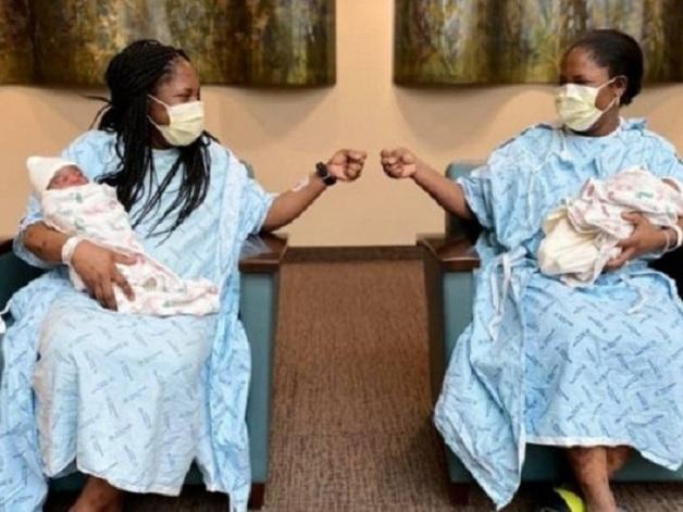 Редкое совпадение: волей случая близнецы одновременно забеременели и родили с разницей в сутки
