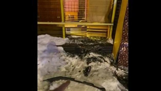 Гаишники врезались в кафе на патрульной машине и разбили окно