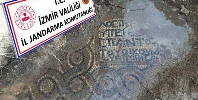 """В Турции """"черные копатели"""" обнаружили уникальную мозаику возрастом 1,5 тыс. лет"""