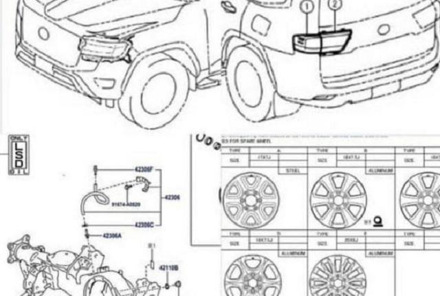 В Сети показали чертежи Toyota Land Cruiser 300