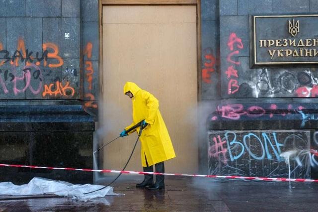 Ремонт Офиса президента после акции на Банковой обойдется в 1,6 млн гривен
