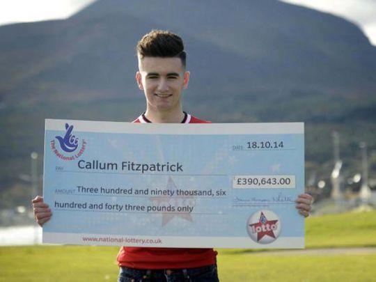 Британец, выигравший в лотерею 550 тысяч долларов, умер в 23 года
