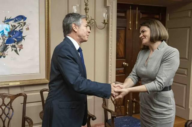Тихановская провела в США переговоры с госсекретарем Блинкеном