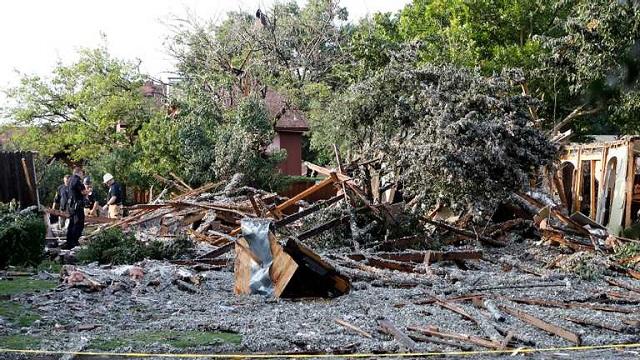 Мощный взрыв в Техасе разрушил жилой дом