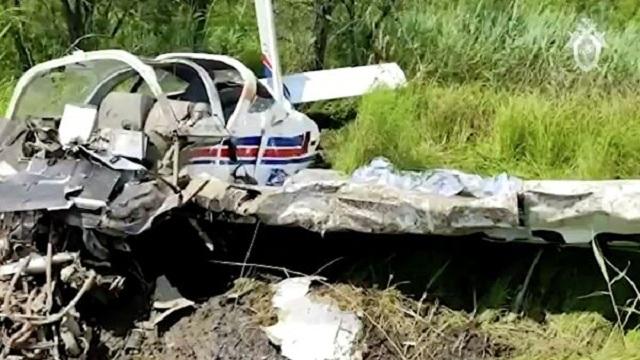 Появилось видео с места падения самолета по Хабаровском