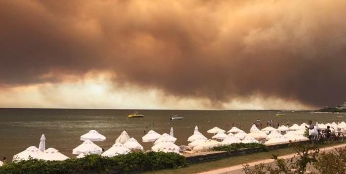 Лесные пожары в Анталии достигли жилых домов: эвакуированы три квартала