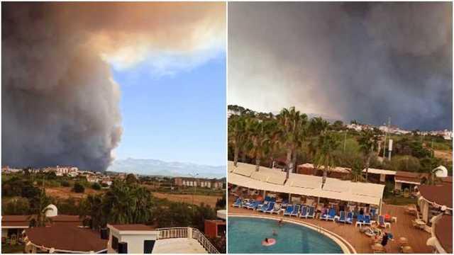 В воздухе запах дыма, с неба падает пепел, – украинцы о пожарах в Анталии