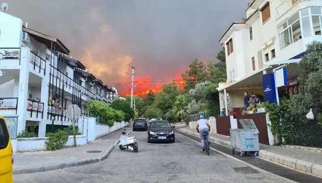 На популярном турецком курорте эвакуируют отели из-за лесных пожаров