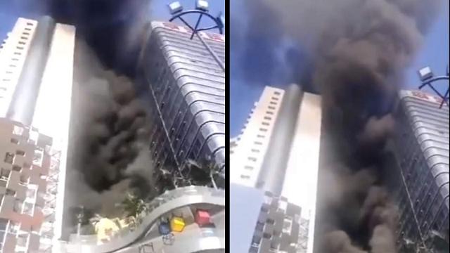 В Китае горела Сианьская башня международной торговли