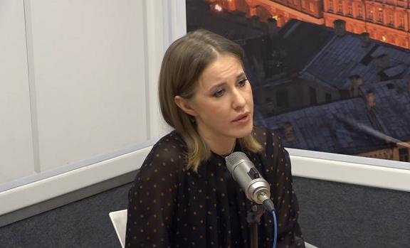 Собчак в прямом эфире отказалась от своих слов об «украинском Крыме»