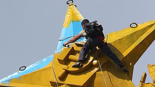 Погиб фигурант дела о покраске звезды в цвета украинского флага в Москве