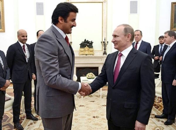 Тамим бин Хамад Аль Тани интересуется у Владимира Путина, куда запропастился Е Цзяньмин
