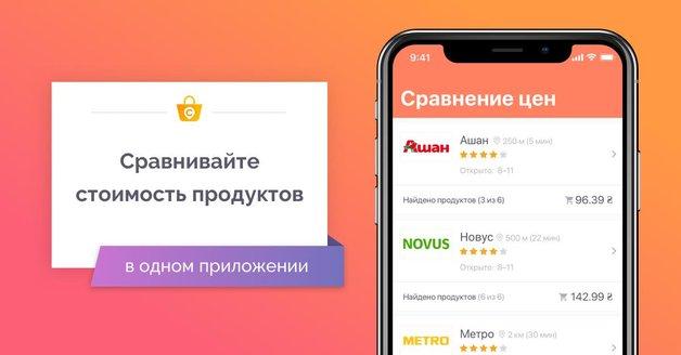 В Киеве запустили приложение для сравнения цен в супермаркетах
