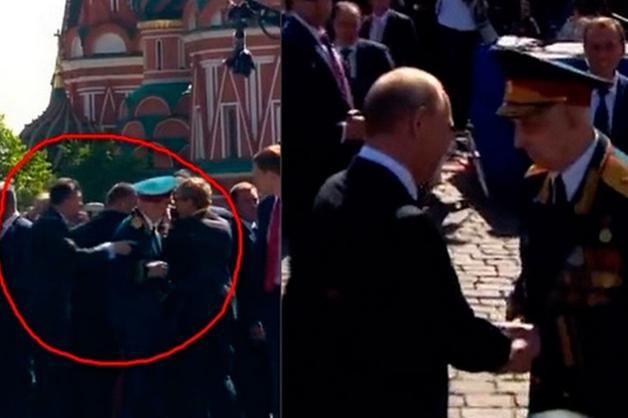 Ветеран не запомнил фсошников, оттолкнувших его от Путина