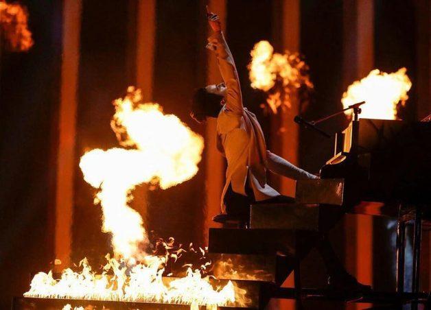 Рояль и горящая лестница: яркое видео выступления MELOVIN на Евровидении-2018