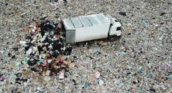 Неизвестные ночью подожгли мусорный полигон «Ядрово» в Подмосковье