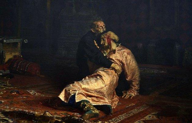В Третьяковке вандал порезал картину Репина «Иван Грозный»