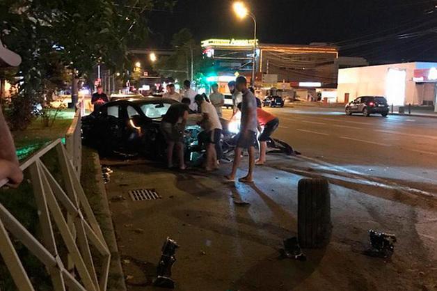 ДТП с BMW Федора Смолова в Краснодаре попало на видео