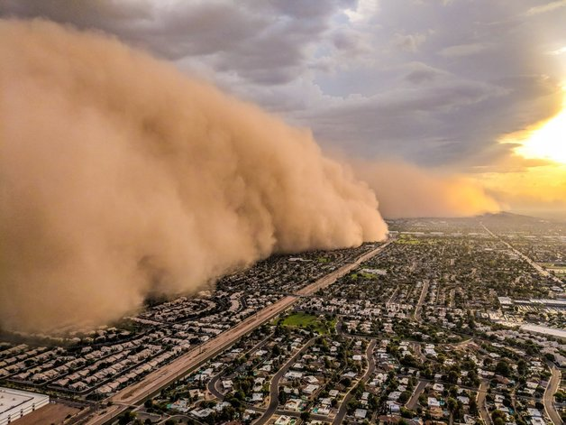 «Siri, я в аду?»: по Аризоне прошлась мощная песчаная буря
