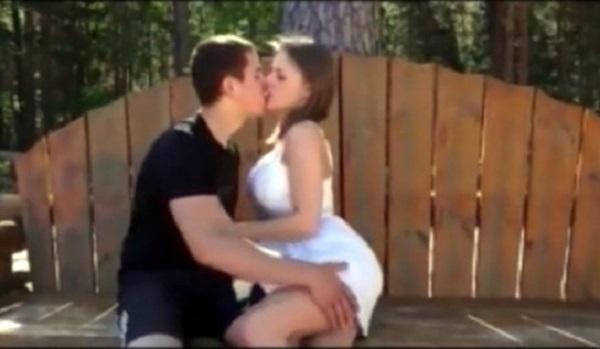 Жители Саулкрасты шокированы: порнофильм с Виолой Бейли сняли в публичном месте