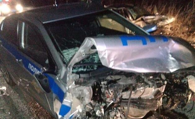 В Приамурье в ДТП с полицейским автомобилем пострадало шесть человек