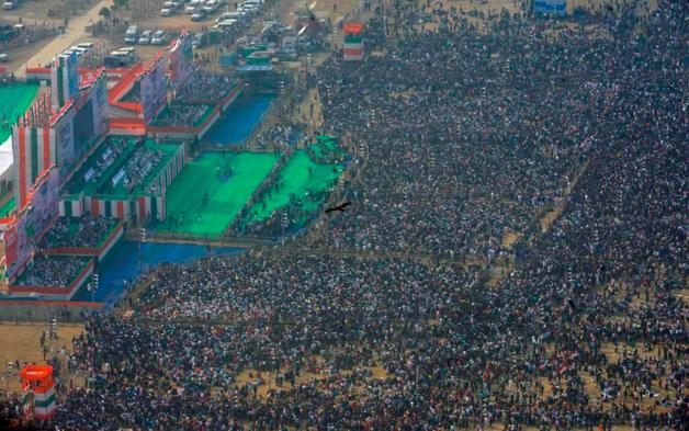 В оппозиционном митинге в Индии приняли участие полмиллиона человек