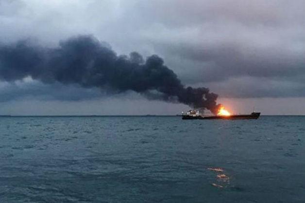 СКР возбудил дело о гибели людей при пожаре на судах в Керченском проливе