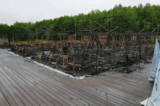 «Тугоплавкие» палатки для сгоревшего «Холдоми» закупали по совету властей