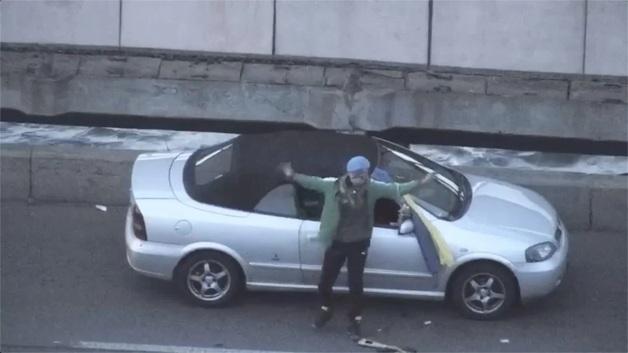 Как спецназ задержал «минера» моста Метро: видео с беспилотника