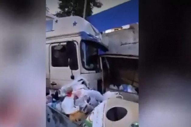 Фура протаранила 10 машин в Сочи. Видео с места ДТП