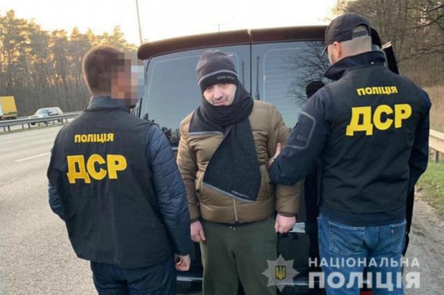 Полиция Украины опубликовала видео задержания «вора в законе» Лашу Свана