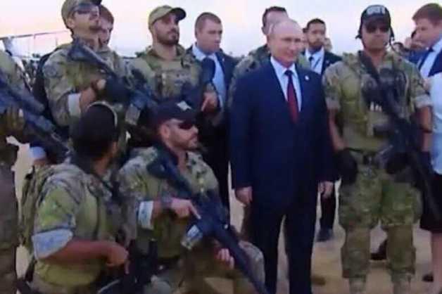 В Сети появилась фотография Путина в окружении бразильского спецназа