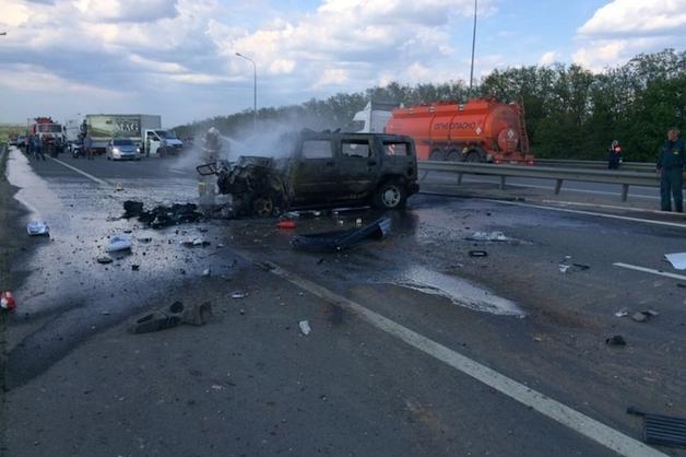 Курский депутат заживо сгорел в Hummer после ДТП с КамАЗом под Ростовом